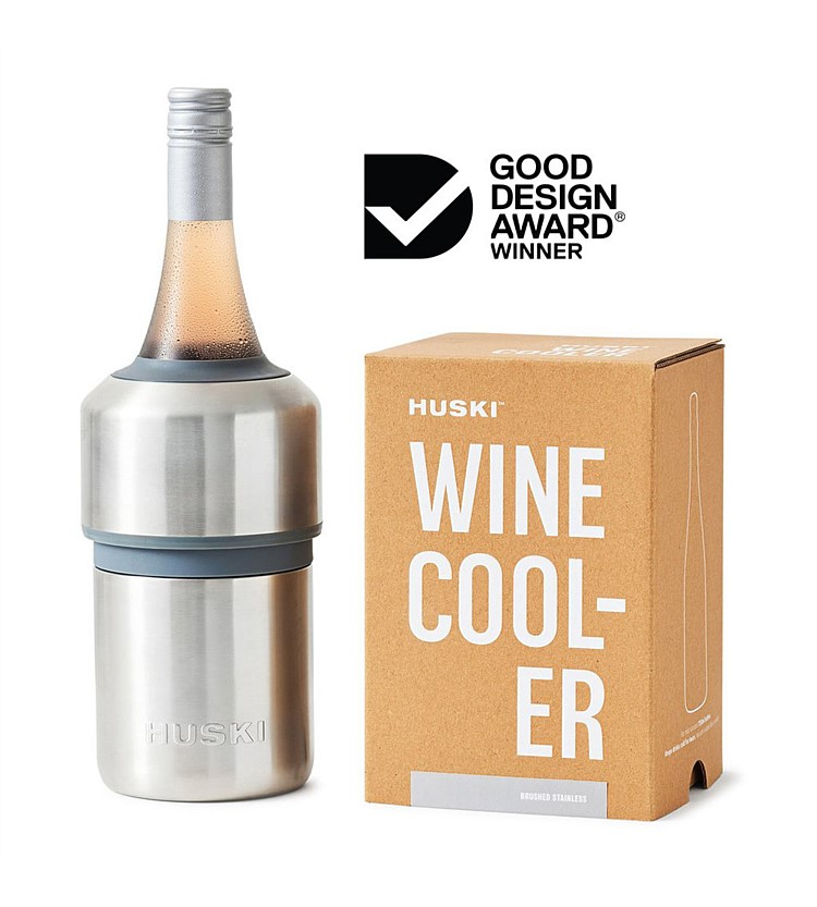 Huski Wine Cooler Brushed Stainless Steel