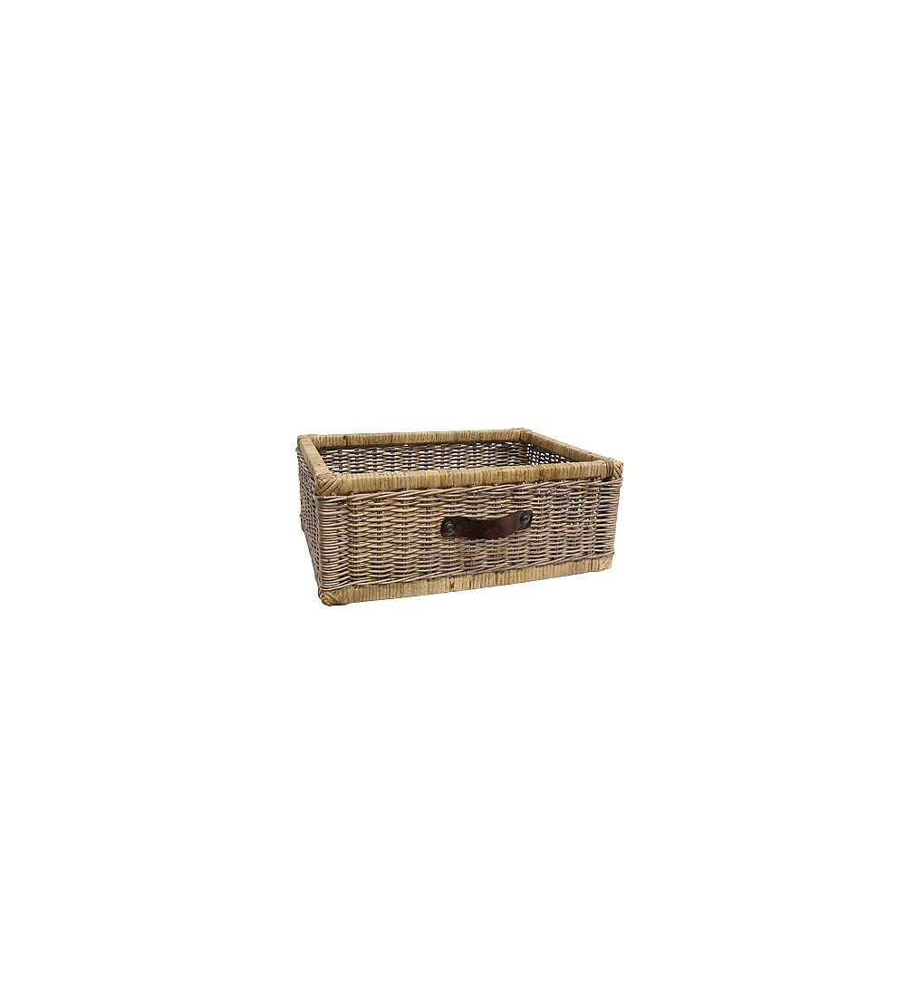 Home Decor French Country Vertice Rectangle Basket