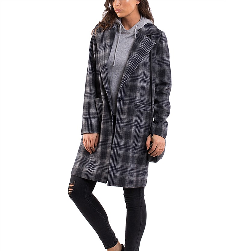 All About Eve Offbeat Plaid Coat