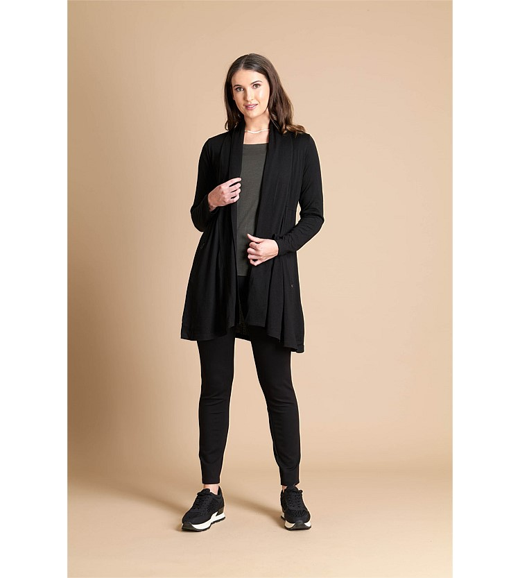 Foil Cardi Swing with Pocket