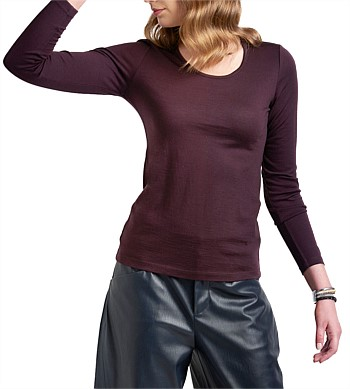 Foil Scoop Neck Top