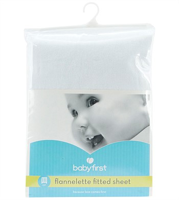 Baby First Fitted Cot Flannel Sheet