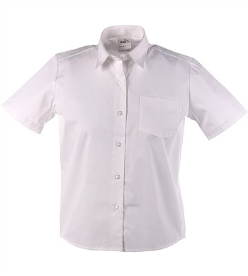 White Short Sleeve School Blouse
