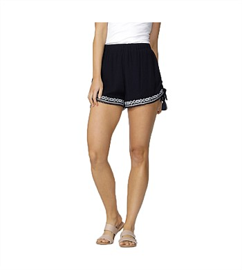 Sass Short Ivie Embroidered Tie Short