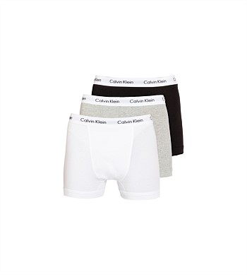 Calvin Klein 3 Pack Cotton Stretch Trunk