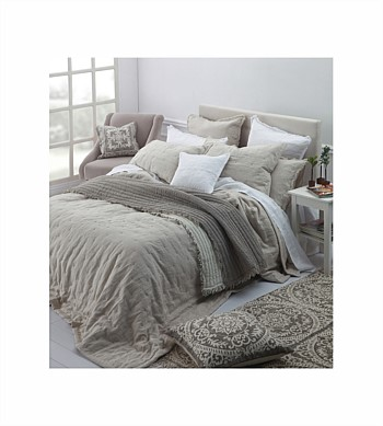 M.M Linen Laundered Linen Queen Bedspread Set