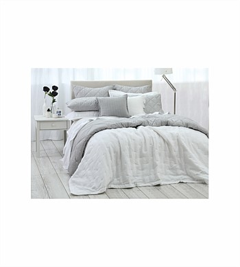 MM Linen Laundered Linen King Bedspread Set