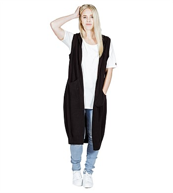 Home Lee Long Knitted Vest