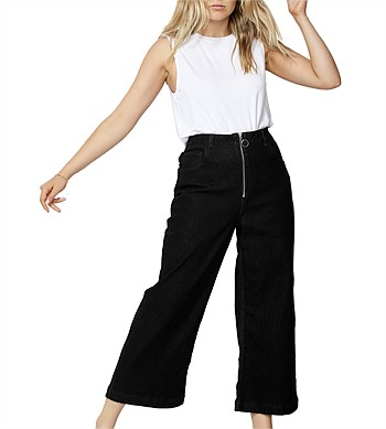 Betty Basics Drew Wide Crop Jean