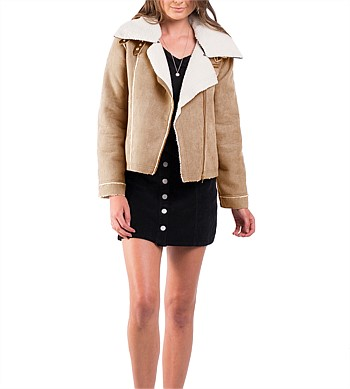 All About Eve Nav Shearling Jacket