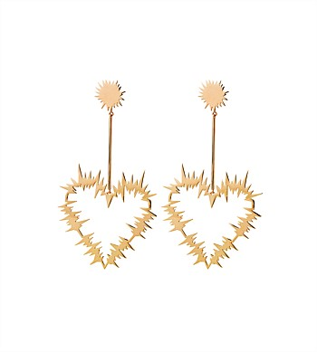 Karen Walker Electric Heart Drop Earrings