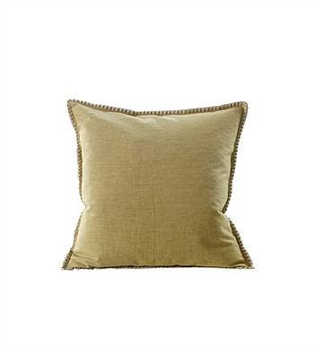 M.M Linen Stitch Ochre Cushion