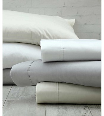 MM Linen Sheet Set 300TC Pure Cotton Sateen Grey King