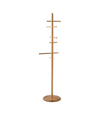 Citta Mast Coat Stand Natural Oak