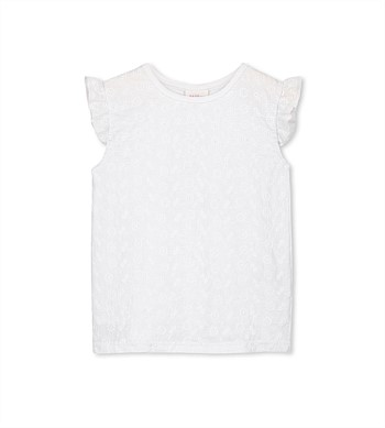 Milky Broderie Front Tee
