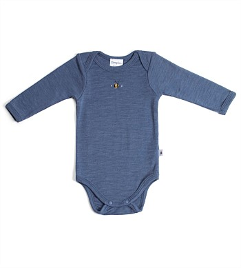 Dimples 100% Merino Long Sleeve Bodysuit