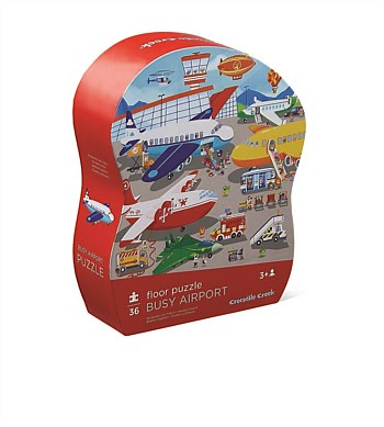 Crocodile Creek Busy Airport 36pc Puzzle