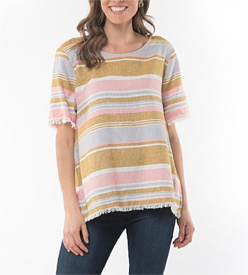 Elm Juniper Stripe Top