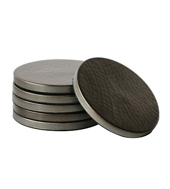 CC Interiors Hammered Coasters