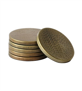 CC Interiors Hammered Brass Coasters