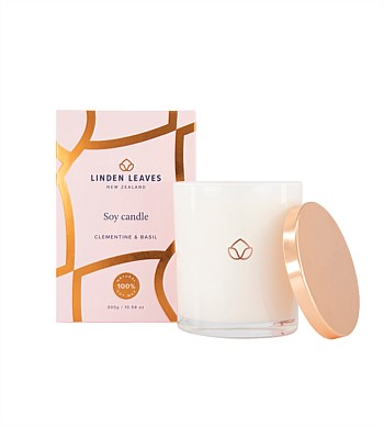 Linden Leaves Clementine & Basil Candle