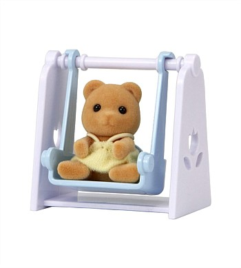 Sylvanian Families Bear Baby with Swing