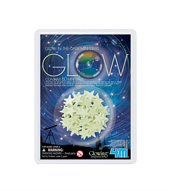 4M Craft Glow-In-The-Dark Mini Stars, Pack of 60