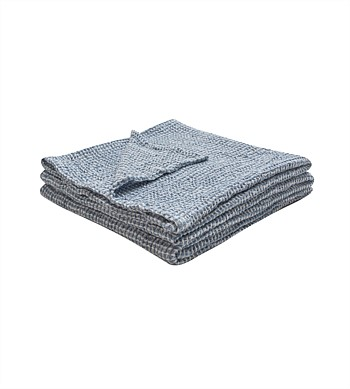 Wallace Cotton Misty Waffle Throw