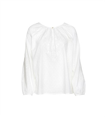 Wallace Cotton Aroha Long Sleeve Top