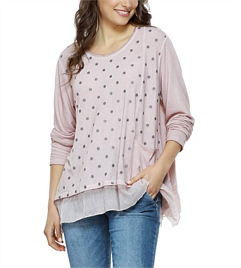 Threadz Spot Knit Top