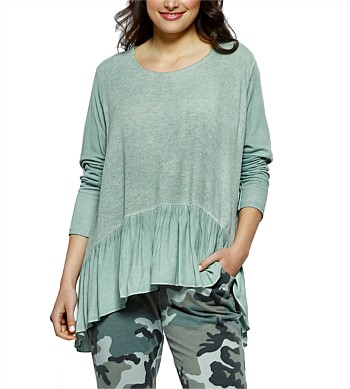 Threadz Ruffle Hem Knit