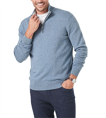 Gazman Half Zip Cotton Stretch Knit
