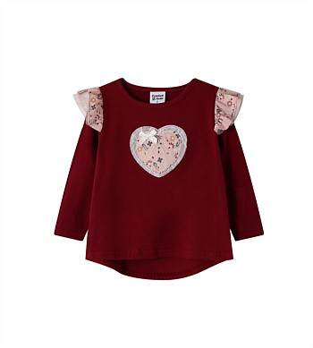Cracked Soda Lola Heart Top - Kids (3-8)