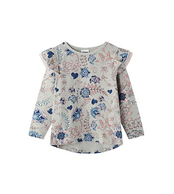 Cracked Soda Scarlett Floral Frill Top - Kids (3-8)