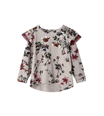 Cracked Soda Lexi Tutu Floral Frill Top - Kids (3-8)