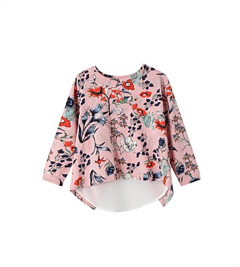 Cracked Soda Grace Floral Frill Top - Kids (3-8)
