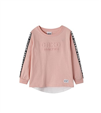 Cracked Soda Ari Embossed Casual Tee - Girls (10-16)