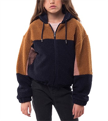 Eve Girl Teddy Panel Jacket