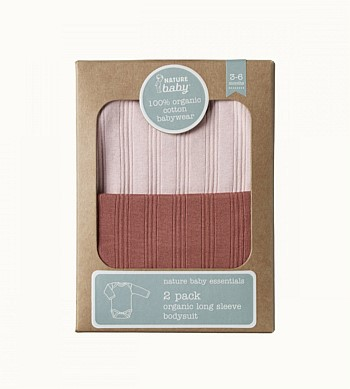 Nature Baby Longsleeve Bodsuit 2 Pack