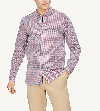 Tommy Hilfiger Slim Dobby Check Shirt