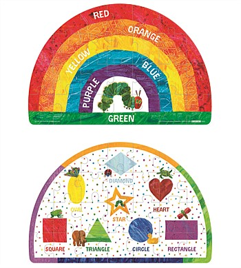 Eric Carle The Very Hungry Caterpillar 2 Sided Floor Puzzle