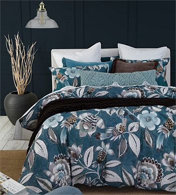 MM Linen Lark Teal Duvet Set Super King