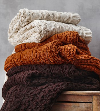 MM Linen Cable Throw Spice