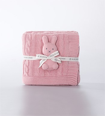 MM Linen Bunny Baby Set Pink