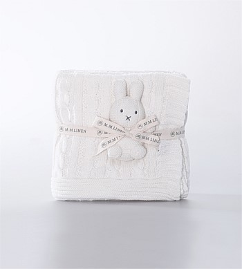 MM Linen Bunny Baby Set White
