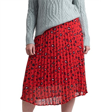 Memo Midi Skirt Pleated