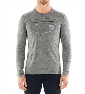 Icebreaker 200 Oasis Long Sleeve Crew Peak Top