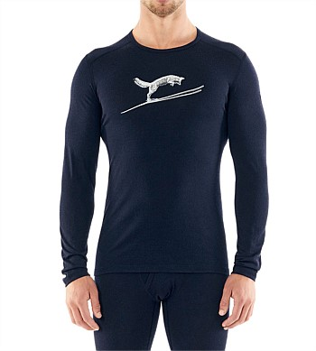 Icebreaker 200 Oasis Long Sleeve Crew Fox Jump Top