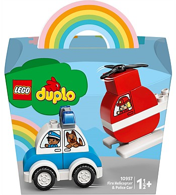 Duplo My First Fire Helicopter & Police Car