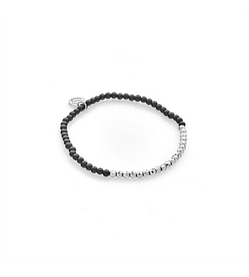 Silk & Steel Bracelet Party At The Front Black / Silver